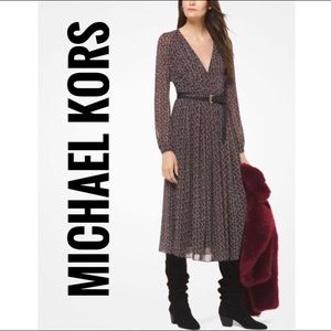 Michael Kors Flower Patterns Chiffon Dress✨New!